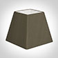 25cm Sloped Square Shade in Bronze Brown Silk