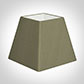 25cm Sloped Square Shade in Watered Green Silk