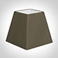 30cm Sloped Square Shade in Bronze Brown Silk