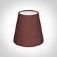 Tapered Candle Shade in Red Faux Silk