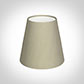 Tapered Candle Shade in Pale Smoke Satin