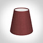 Tapered Candle Shade in Antique Red Silk