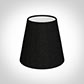 Tapered Candle Shade in Black Silk