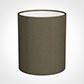 20cm Medium Cylinder Shade in Bronze Brown Silk