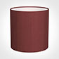 25cm Medium Cylinder Shade in Antique Red Silk