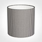 30cm Medium Cylinder Shade in Grey Longford Gingham