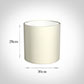 30cm Medium Cylinder Shade in Cream Satin