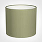40cm Medium Cylinder Shade in Pale Green Faux Silk