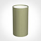 13cm Narrow Cylinder Shade in Pale Green Faux Silk