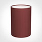25cm Narrow Cylinder Shade in Antique Red Silk