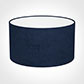 30cm Wide Cylinder Shade in Navy Blue Hunstanton Velvet