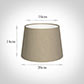 20cm Medium French Drum Shade in Limestone Waterford Linen