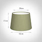 25cm Medium French Drum Shade in Pale Green Faux Silk