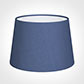 25cm Medium French Drum Shade in Slate Blue Silk