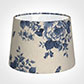 30cm Medium French Drum Shade in Blue Bloom
