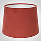 30cm Medium French Drum Shade in Burnt Orange Hunstanton Velvet
