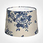 35cm Medium French Drum Shade in Blue Bloom