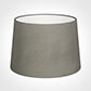 35cm Medium French Drum Shade in Pewter Satin
