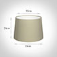 35cm Medium French Drum Shade in Pale Smoke Satin