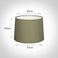 45cm Medium French Drum Shade in Watered Green Silk