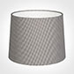 50cm Medium French Drum Shade in Grey Longford Gingham