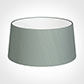 45cm Wide French Drum Shade in Aquamarine Faux Silk