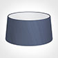 45cm Wide French Drum Shade in Blue Faux Silk