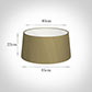 45cm Wide French Drum Shade in Dull Gold Faux Silk