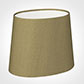 20cm Sloped Oval Shade in Dull Gold Faux Silk