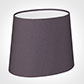 20cm Oval Shade  in Silk Dupion in Heather