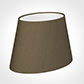 25cm Sloped Oval Shade in Bronze Faux Silk