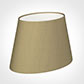 25cm Sloped Oval Shade in Oyster Faux Silk