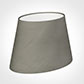 25cm Sloped Oval Shade in Pewter Satin