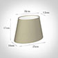 25cm Sloped Oval Shade in Pale Smoke Satin