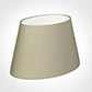 30cm Sloped Oval Shade in Pale Smoke Satin