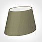 30cm Sloped Oval Shade in Watered Green Silk