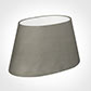 40cm Sloped Oval Shade in Pewter Satin