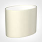 25cm Straight Oval Shade in Cream Satin