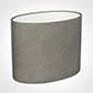 25cm Straight Oval Shade in Pewter Satin