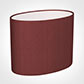 25cm Straight Oval Shade in Antique Red Silk