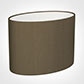 30cm Straight Oval Shade in Bronze Faux Silk