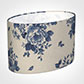 40cm Straight Oval Shade in Blue Bloom