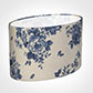 45cm Straight Oval Shade in Blue Bloom