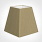 15cm Sloped Square Shade in Oyster Faux Silk