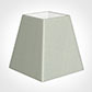 15cm Sloped Square Shade in Soft Grey Faux Silk