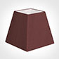 20cm Sloped Square Shade in Old Red Faux Silk