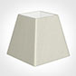 20cm Sloped Square Shade in Pearl Faux Silk