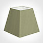 20cm Sloped Square Shade in Pale Green Faux Silk