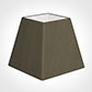 20cm Sloped Square Shade in Bronze Brown Silk