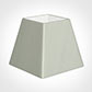 25cm Sloped Square Shade in Soft Grey Faux Silk